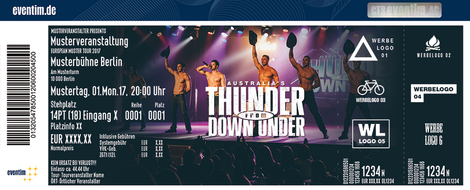Australia's Thunder From Down Under Karten für ihre Events 2017