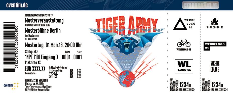 Tiger Army Karten für ihre Events 2017
