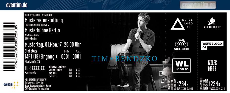 Karten für Tim Bendzko: Mein Wohnzimmer ist dein Wohnzimmer - Tour 2017 in Berlin