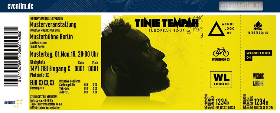 Tinie Tempah Karten für ihre Events 2017