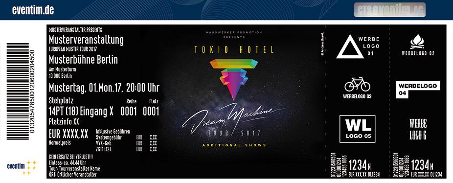 Karten für Tokio Hotel: Dream Machine World Tour 2017 in Oberhausen