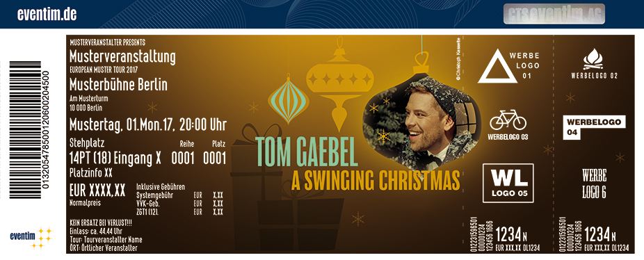 Karten für Tom Gaebel & His Orchestra: A Swinging Christmas 2017 in Düsseldorf