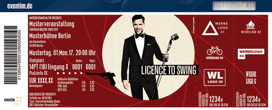 Karten für Tom Gaebel & His Orchestra: Licence To Swing in Frankfurt / Main