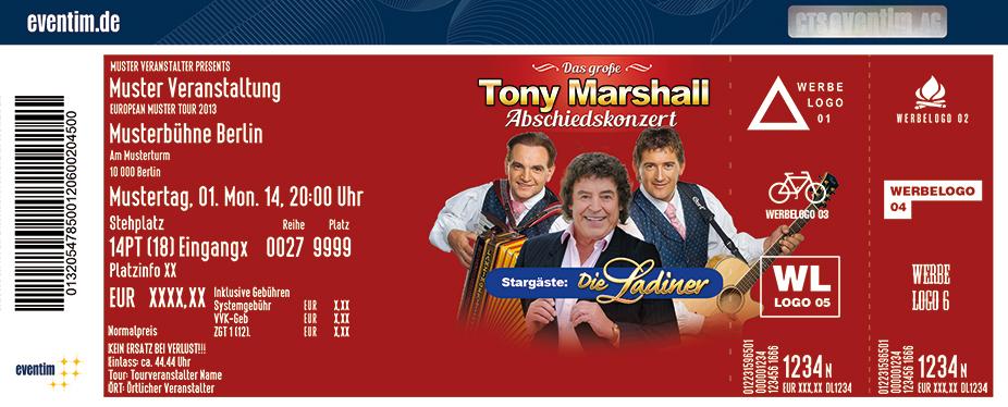 Tony Marshall Karten für ihre Events 2017