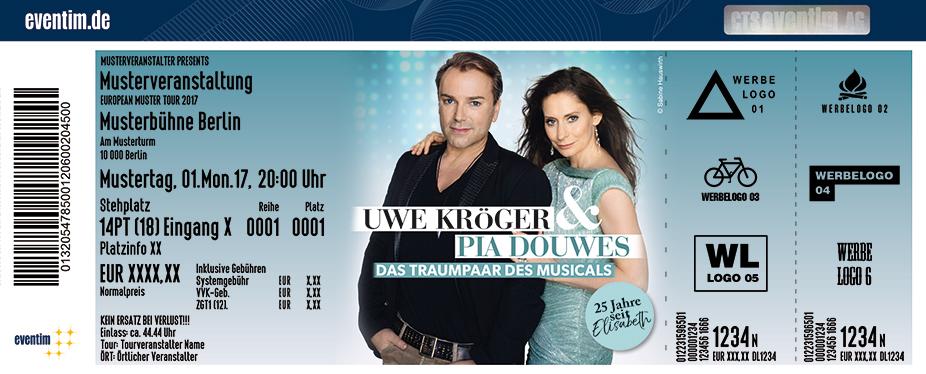 Karten für Uwe Kröger & Pia Douwes: Das Traumpaar des Musicals 2018 - 25 Jahre Elisabeth in Frankfurt / Main