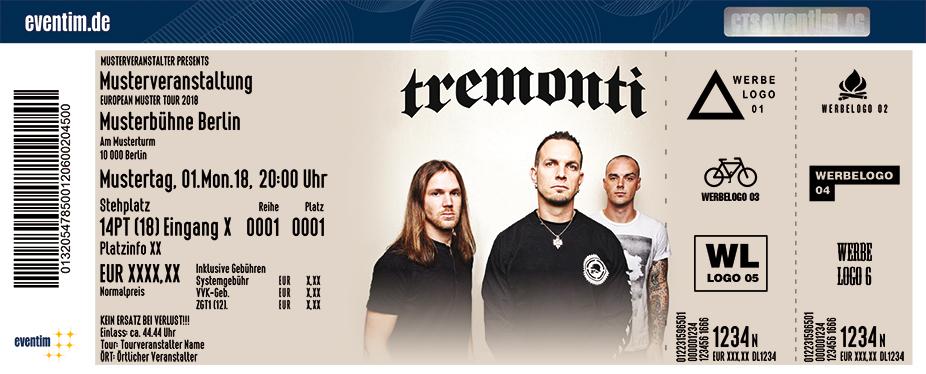 Tremonti Karten für ihre Events 2018