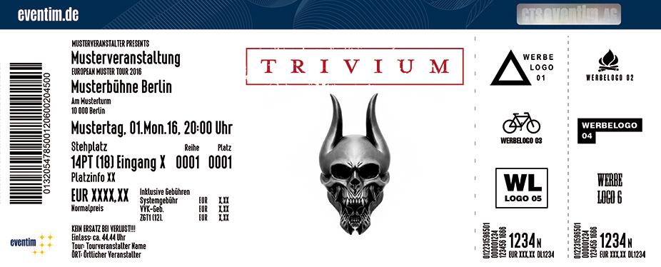 Trivium Karten für ihre Events 2017