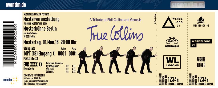 Karten für True Collins - A Tribute To Phil Collins & Genesis in Uelzen