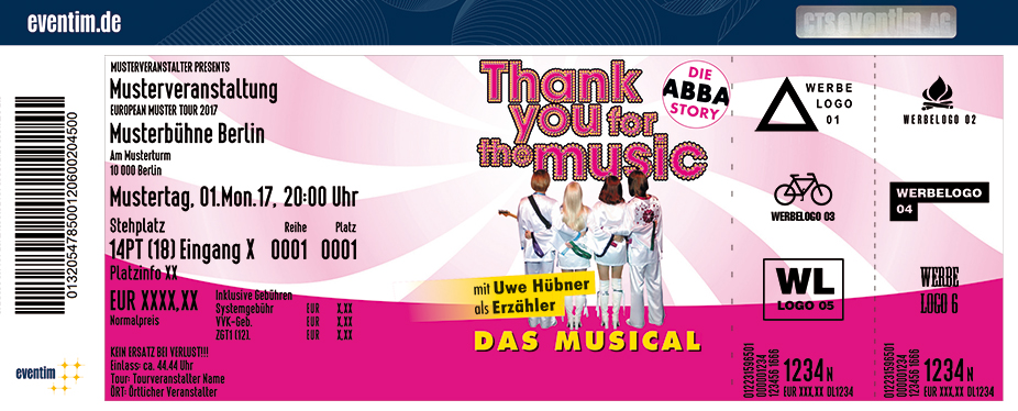 Karten für Thank you for the music - Die ABBA-Story als Musical in Mainz