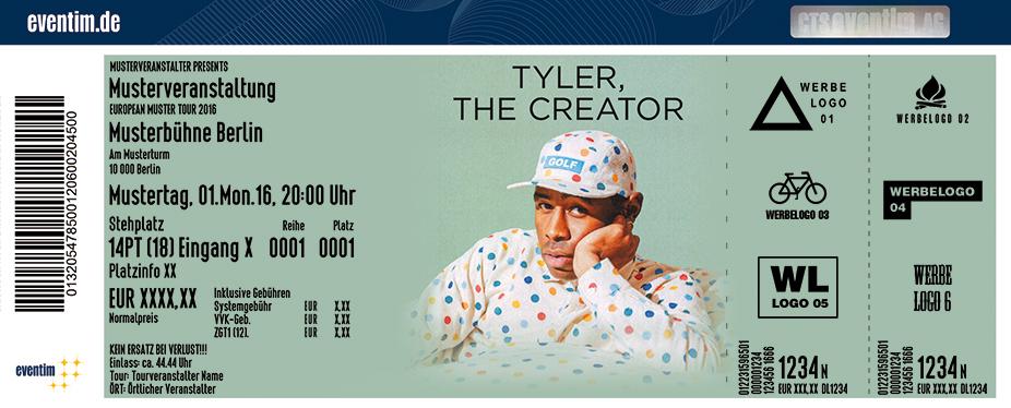 Tyler, The Creator Karten für ihre Events 2017