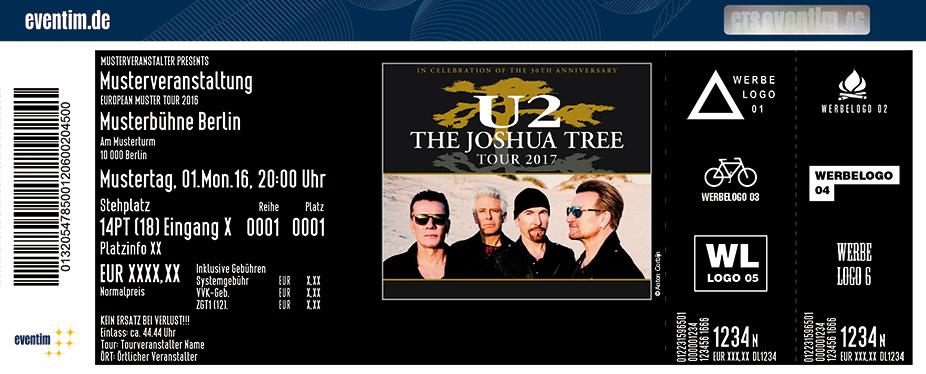 U2 Karten für ihre Events 2017