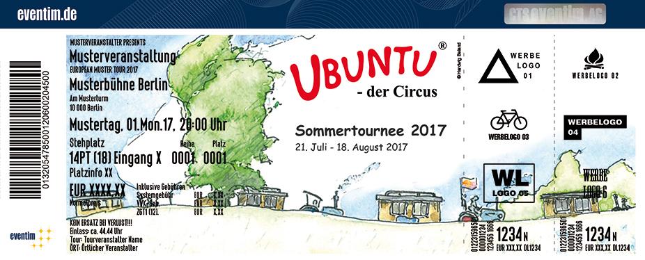 Circus Ubuntu Karten für ihre Events 2017