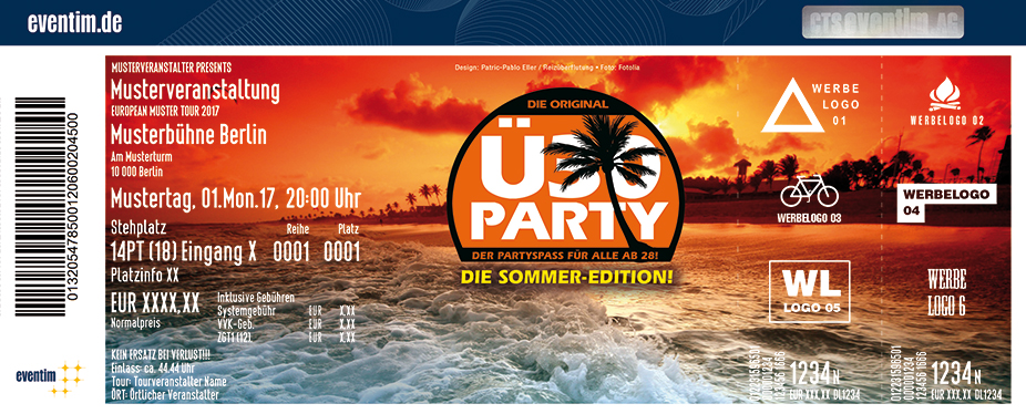 Karten für Original Ü30 Party - Strandsalon Lübeck in Lübeck