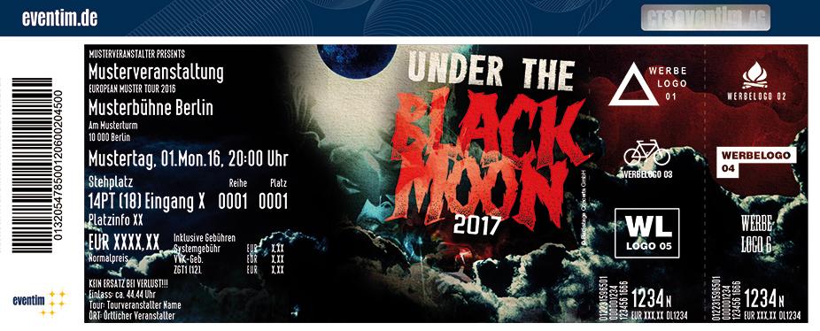 Under The Black Moon Karten für ihre Events 2017