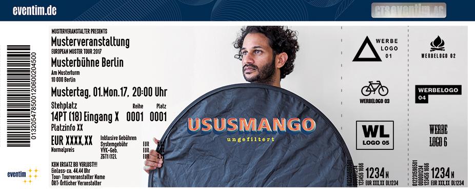 Karten für Ususmango: Ungefiltert in Mainz