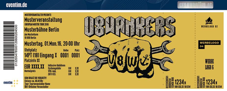 V8 Wankers Karten für ihre Events 2017