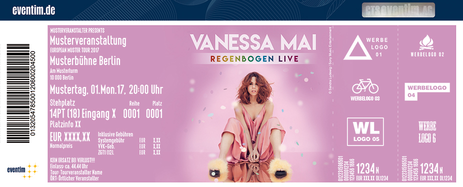 Karten für Vanessa Mai - Regenbogen Live 2018 in Düren