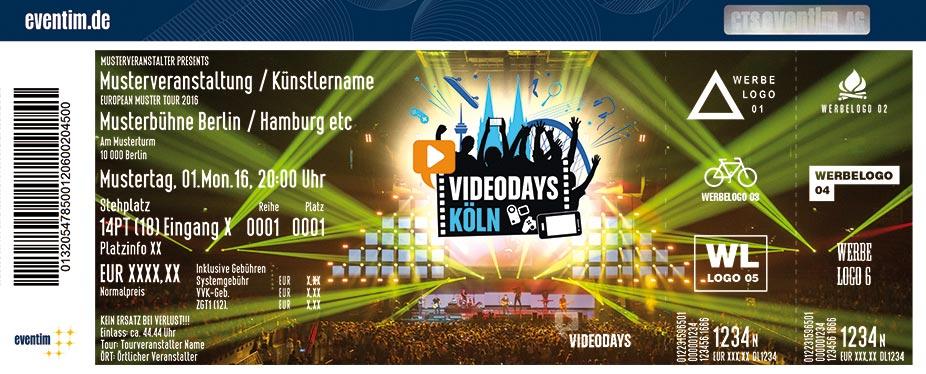 Videodays Karten für ihre Events 2017