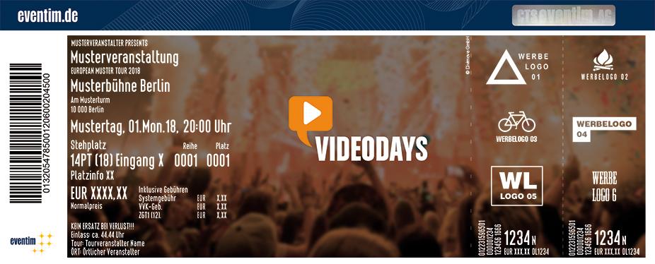 Videodays Karten für ihre Events 2018