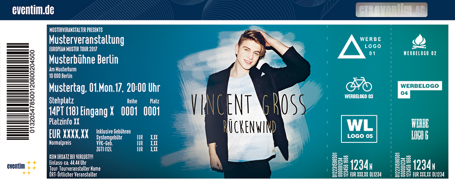Karten für Vincent Gross: Rückenwind Tour 2017 in Hamburg