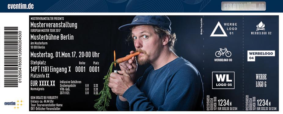 Karten für Vincent Pfäfflin: Nicht mehr ganz so dicht - Tour 2018 in Bremen