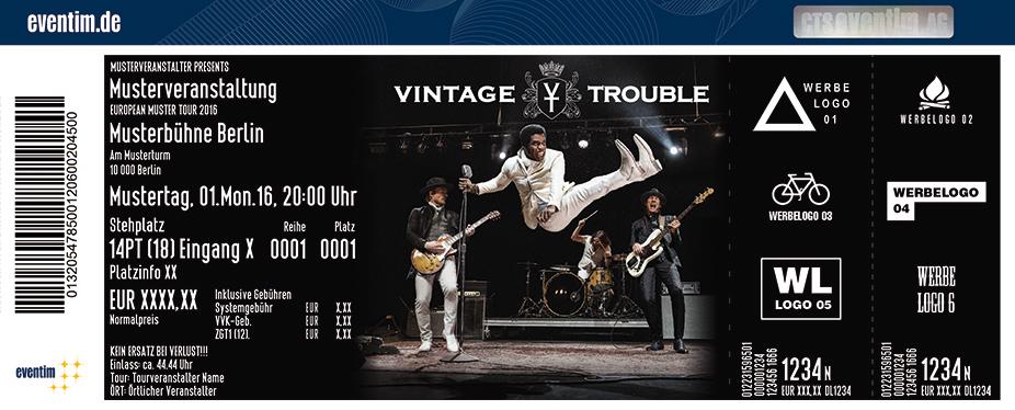 Vintage Trouble Karten für ihre Events 2017