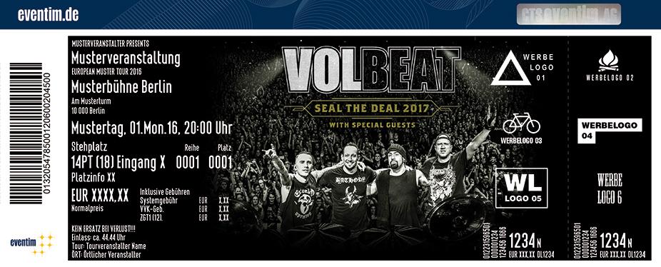Volbeat Karten für ihre Events 2017