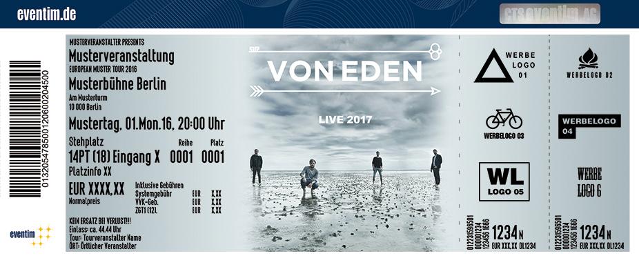 Von Eden Karten für ihre Events 2017