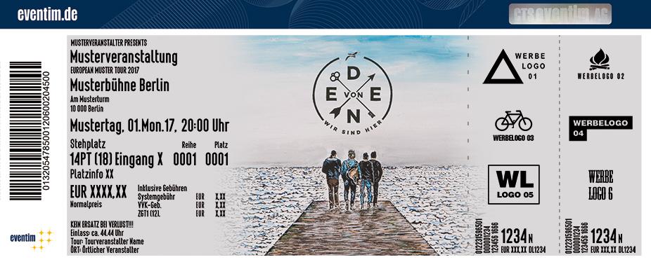 Karten für Von Eden: Wir sind hier Tour 2017 in München
