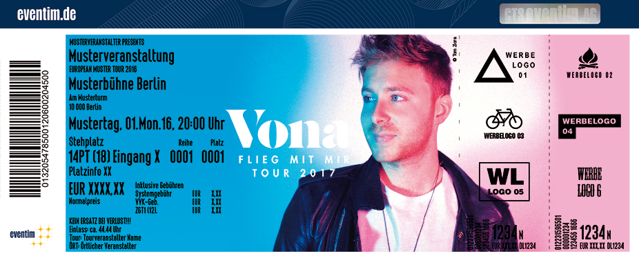 Karten für Vona: Flieg mit mir Tour 2017 in Dresden
