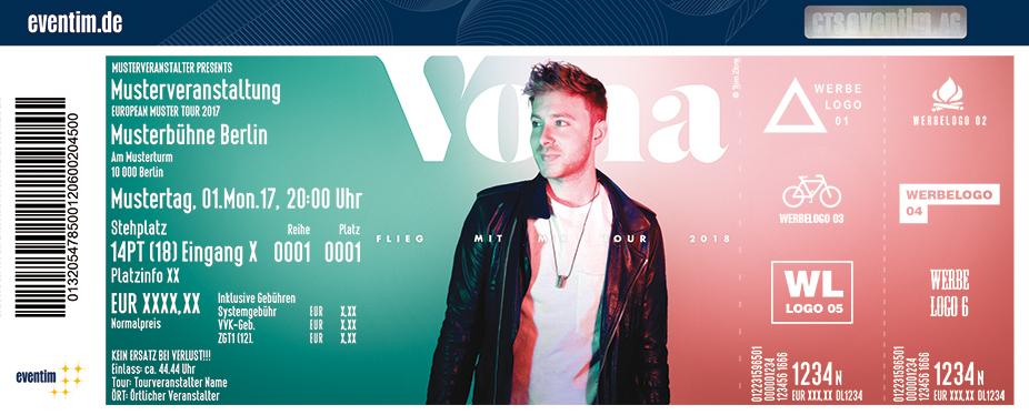 Vona Karten für ihre Events 2018