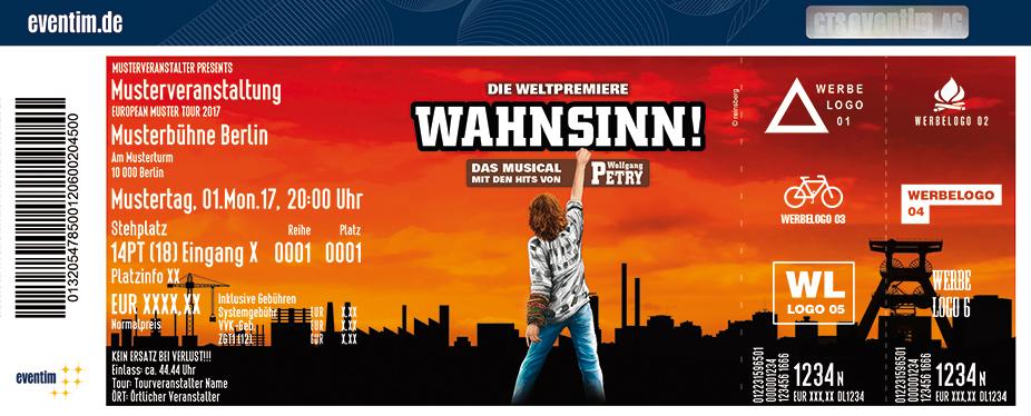 Karten für Wahnsinn! Das Musical mit den Hits von Wolfgang Petry in Duisburg