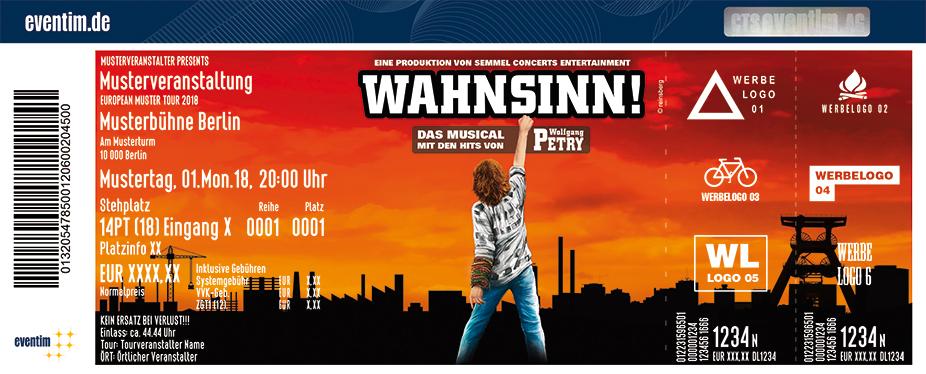 Karten für Wahnsinn! Das Musical mit den Hits von Wolfgang Petry in Bremen