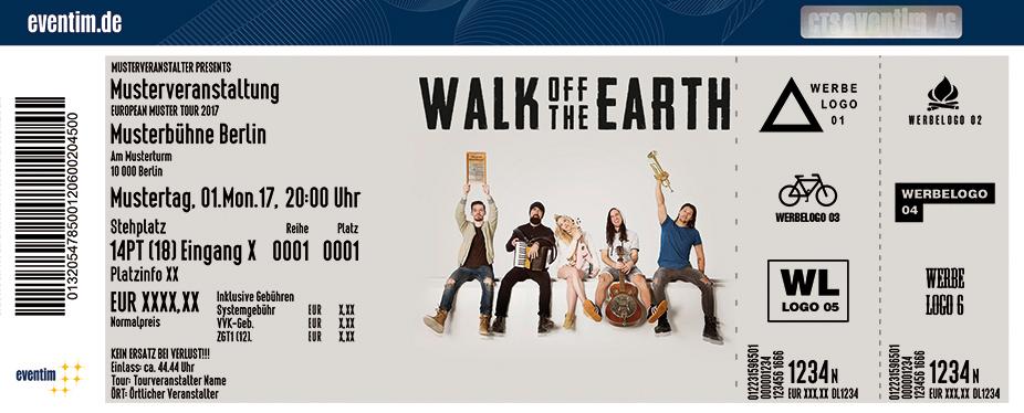 Walk Off The Earth Karten für ihre Events 2017