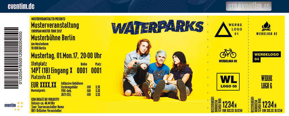 Waterparks Karten für ihre Events 2017