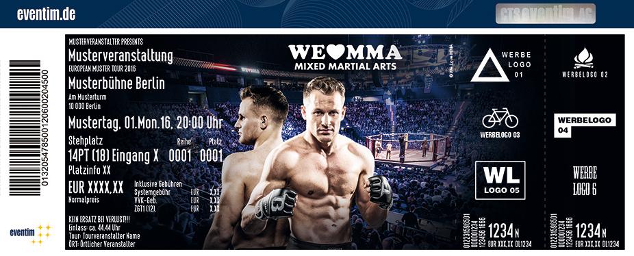 Karten für We Love MMA - Mixed Martial Arts in München
