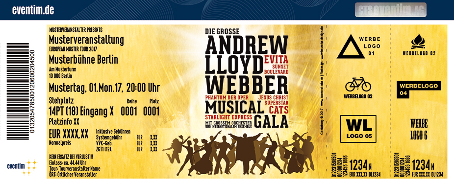 Karten für Die große Andrew Lloyd Webber Gala in Salzburg