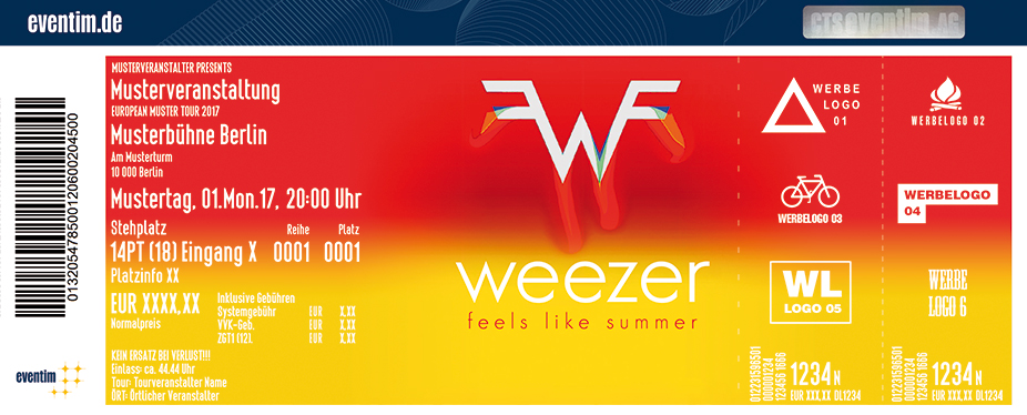 Karten für Weezer: Feels Like Summer Tour in Berlin
