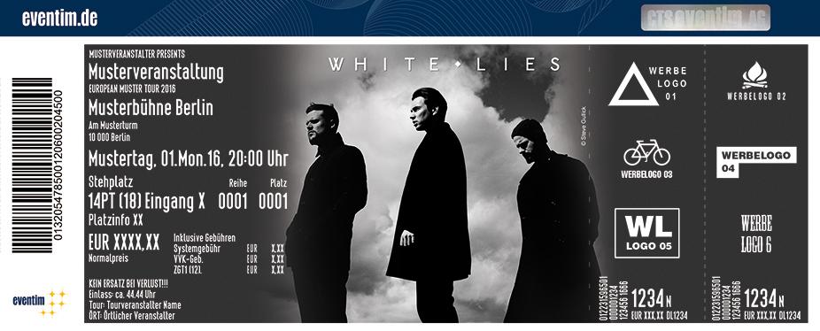 Karten für White Lies in Saarbrücken