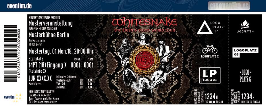 Tickets für Whitesnake in KÖLN am 07.07.19 - Palladium Köln