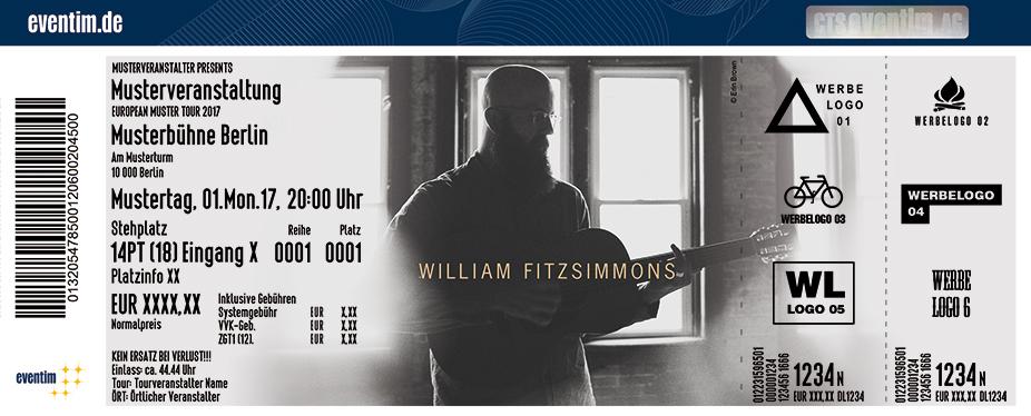 William Fitzsimmons Karten für ihre Events 2017