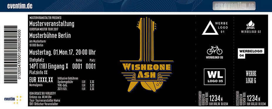 Wishbone Ash Karten für ihre Events 2018