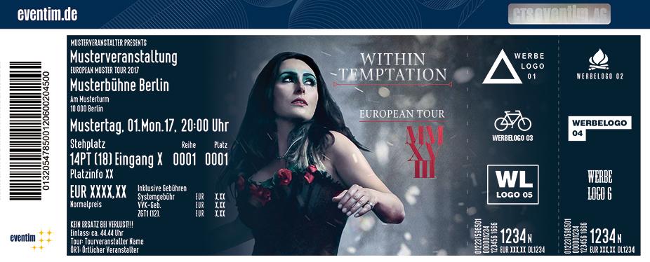 Within Temptation Karten für ihre Events 2017