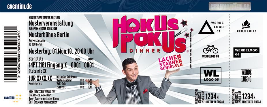 Hokus Pokus Dinner Karten für ihre Events 2018