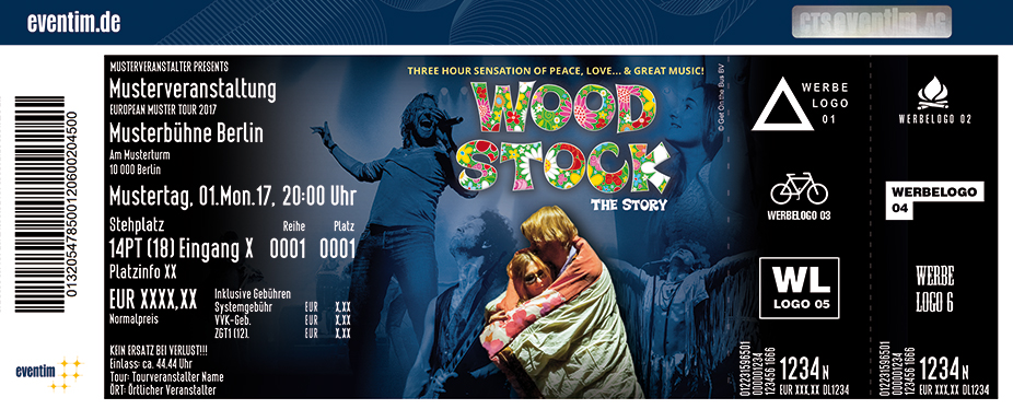 Karten für Woodstock - The Story: Three Hours of Peace, Love & Great Music in Hannover