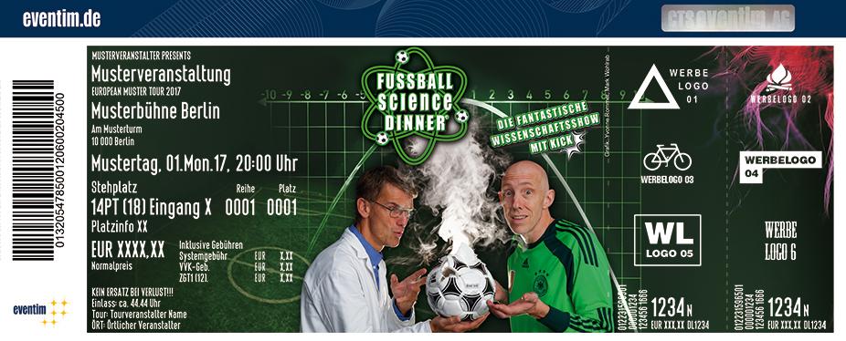 Karten für Fussball Science Dinner in Gelsenkirchen
