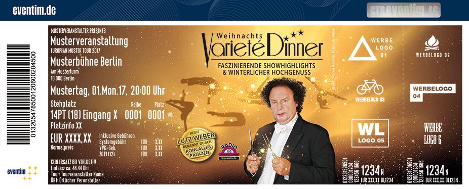 Weihnachts-Varieté Dinner Karten für ihre Events 2017