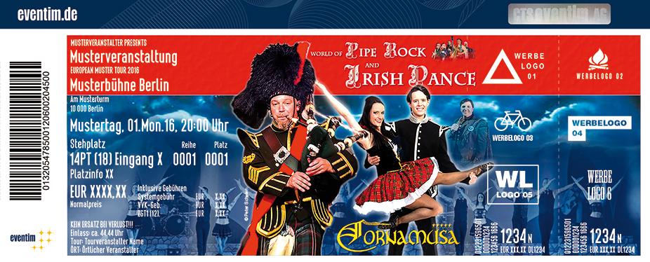 Cornamusa: World Of Pipe Rock And Irish Dance Karten für ihre Events 2017