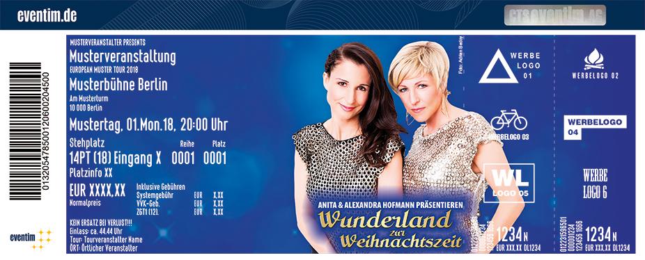 Anita & Alexandra Hofmann Karten für ihre Events 2018