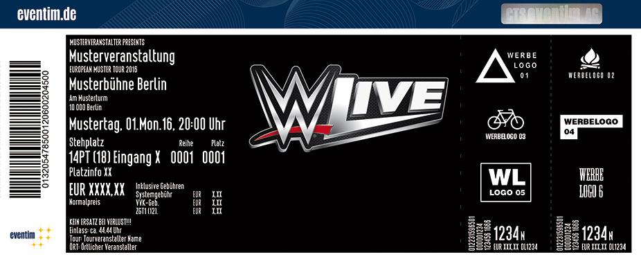 Karten für WWE - Live 2017 in Mannheim